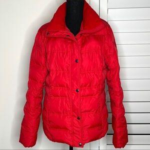 Lands End Red Puffer Jacket Sz 14-16 Large